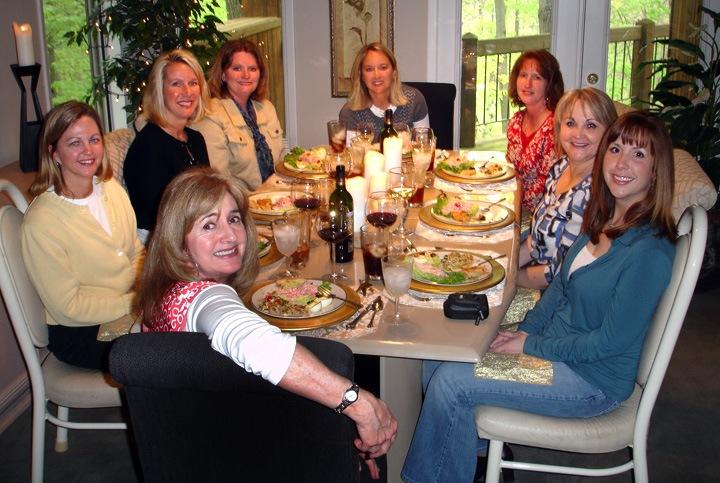 My First Bookclub Luncheon!  The Kansas City Bookclub:  Brenda Bishop, Mary Schmidt, Rose Deferroris, Jennifer Wilson, Dalynn Hayakawa, Cindy Dunlap and Linda Galetti